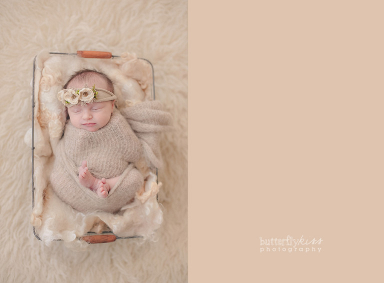 Tacoma Beautiful Newborn Baby soft natural neutral floral headband