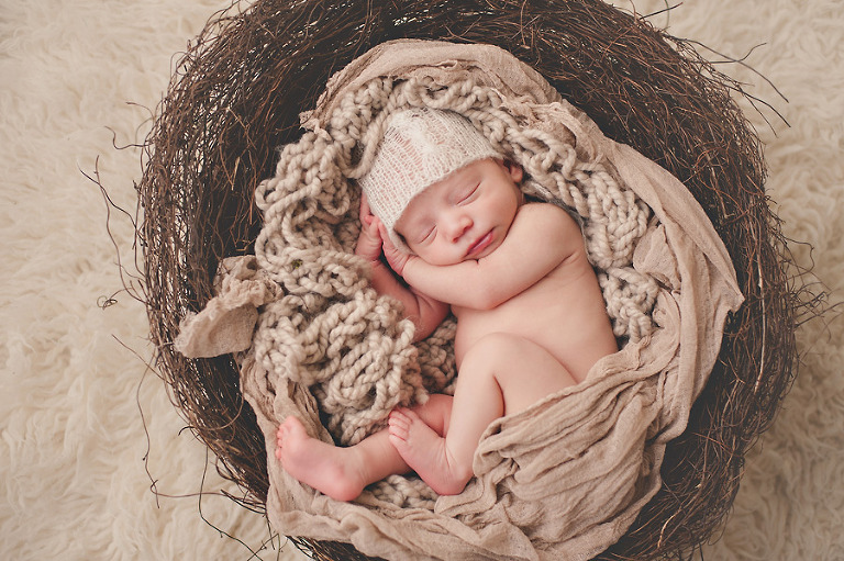 twins boy seattle newborn photography earthy nest curled natural texture