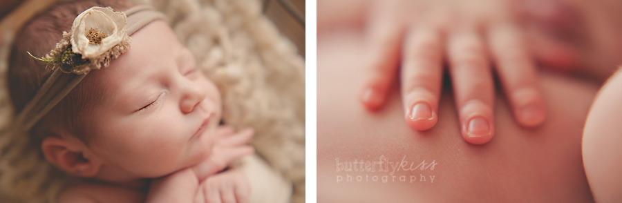 Tacoma newborn baby girl details close up fingers macro picture