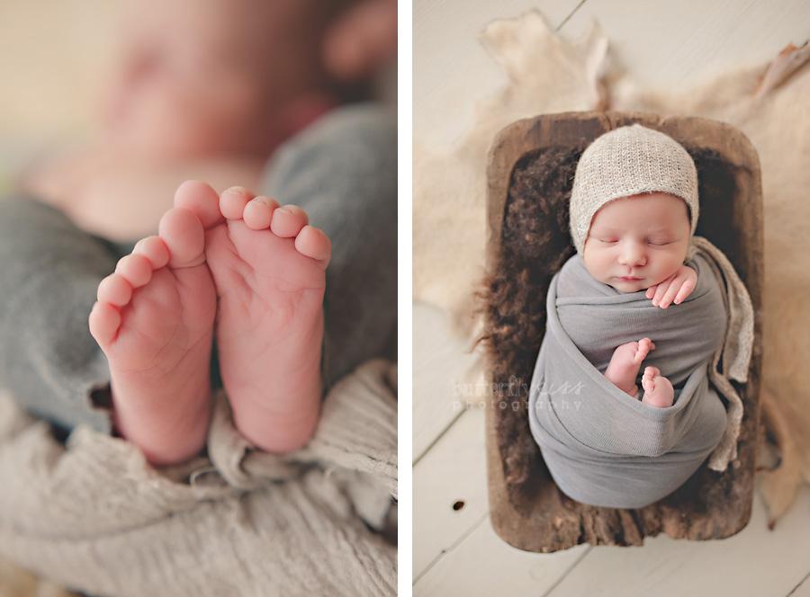 puyallup tacoma organic newborn bodhi swaddled boho earthy baby feet toes