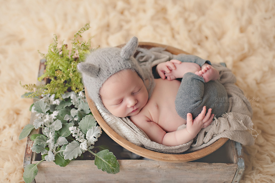 puyallup tacoma organic newborn pictures plants ferns baby wolf nature inspired