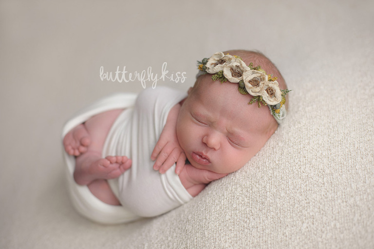 Seattle Newborn Baby Cora Tacoma Newborn Photographer Butterfly