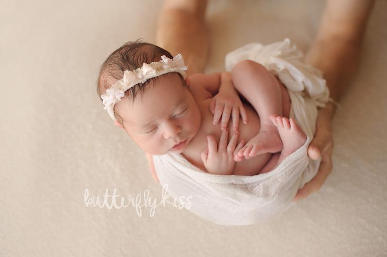 Tacoma Newborn Photographer organic summer baby