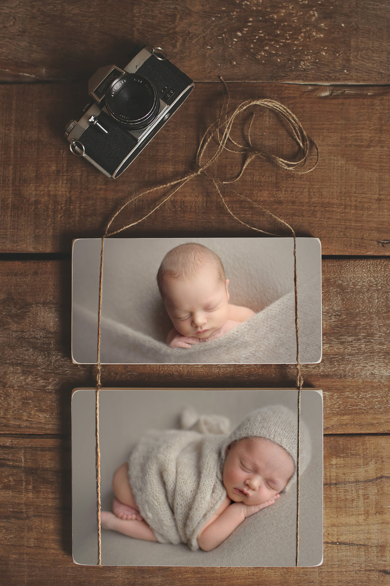 Bonney Lake Newborn Photographer natural baby artwork The Original Photoblocks handmade