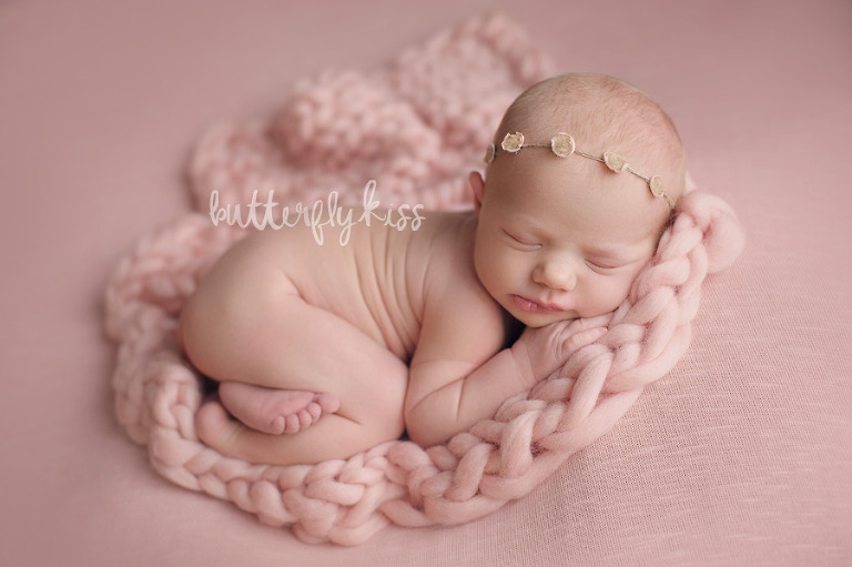Bonney Lake Newborn Photographer Baby Elliot Pink