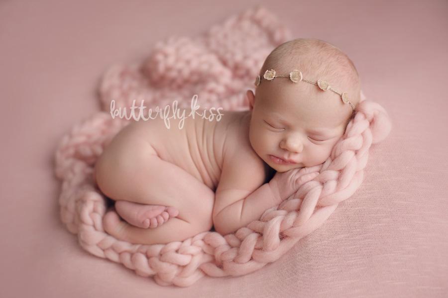 Bonney Lake Newborn Photographer Baby Elliot Pink