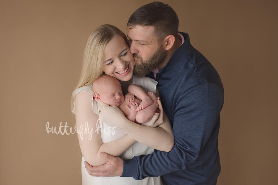 Bonney Lake Newborn Photographer Baby Elliot with mom and dad