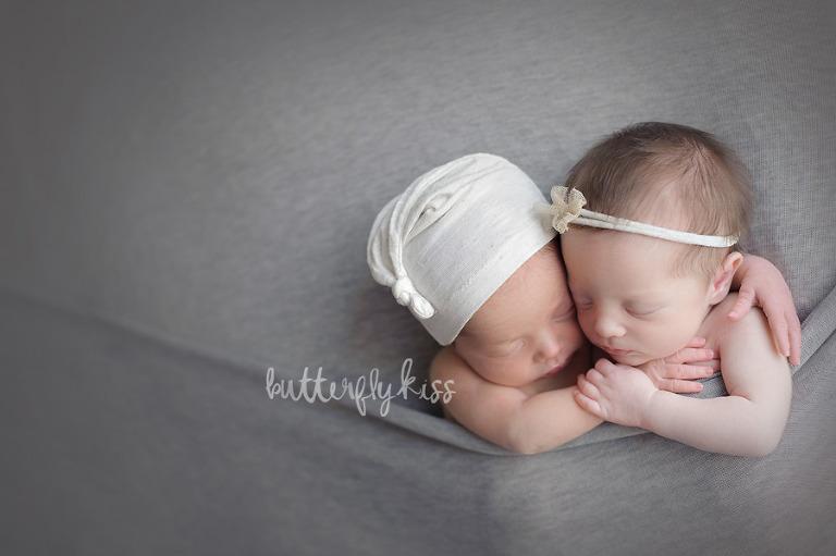 Puyallup Twin Photographer Newborn Twins Boy Girl