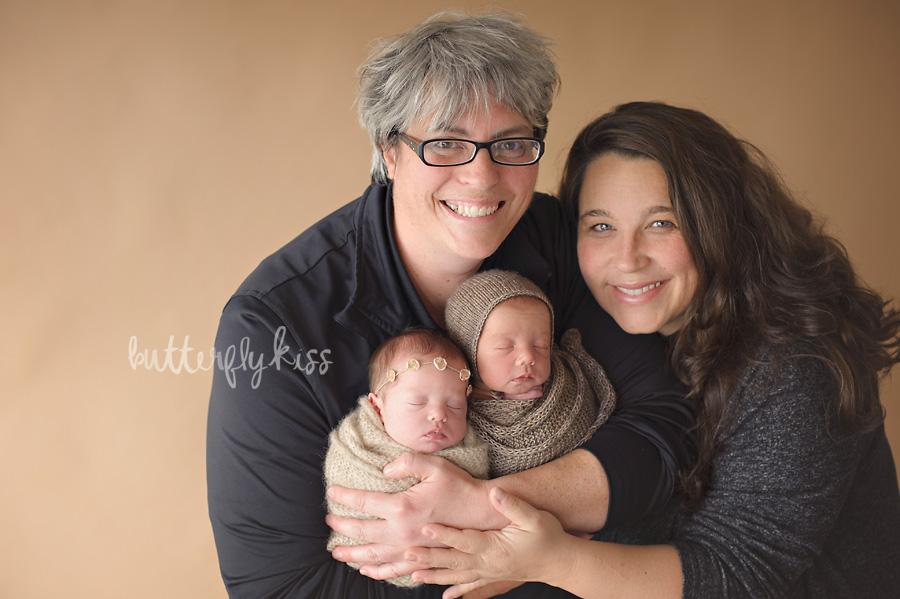 Puyallup Twin Photographer Newborn Twins same sex couple