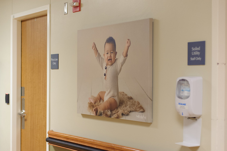 Tacoma newborn photographer St Joseph Hospital older baby one year milestone watch me grow session by Butterfly Kiss Photography