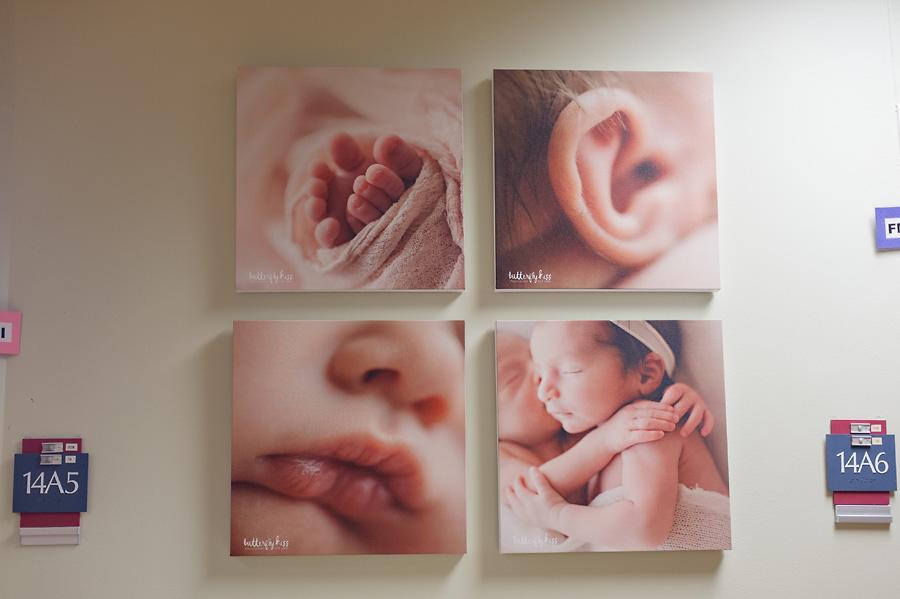 Tacoma newborn photographer St Joseph Hospital details macros macro shot toes ear lips hands twins neutral warm tone simple pose ideas