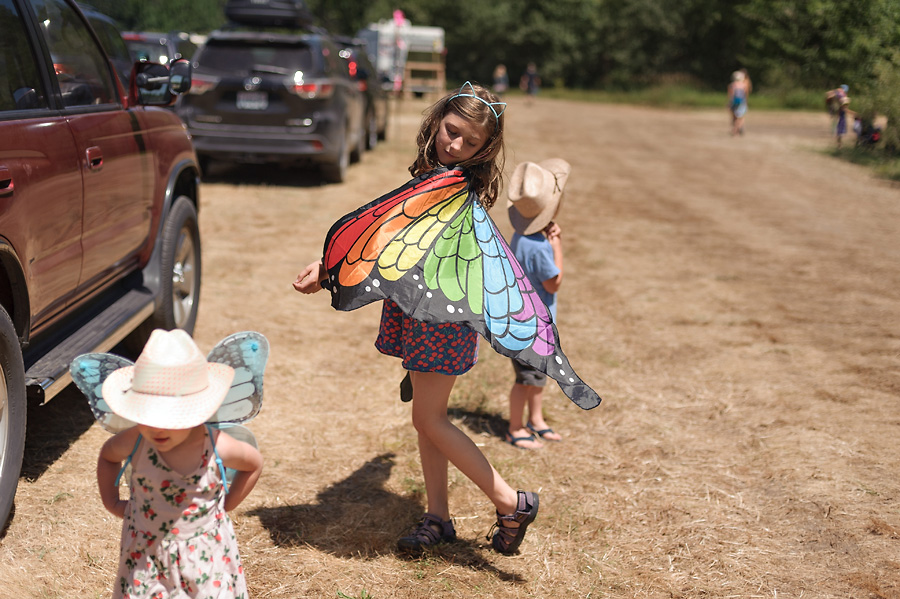 oregon country fair 2017 with kids butterfly costume