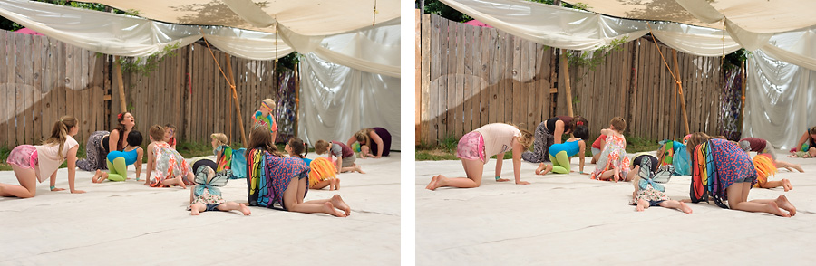 oregon country fair 2017 with kids yoga