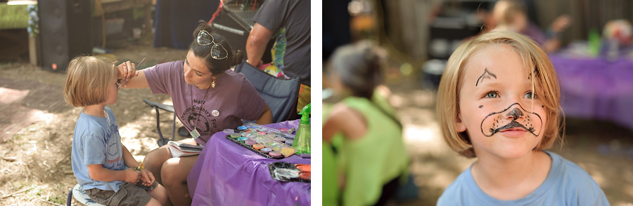 oregon country fair 2017 with kids face painting