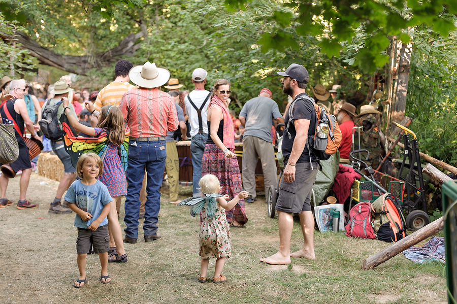 oregon country fair 2017 with kids hippie dancing drum circle