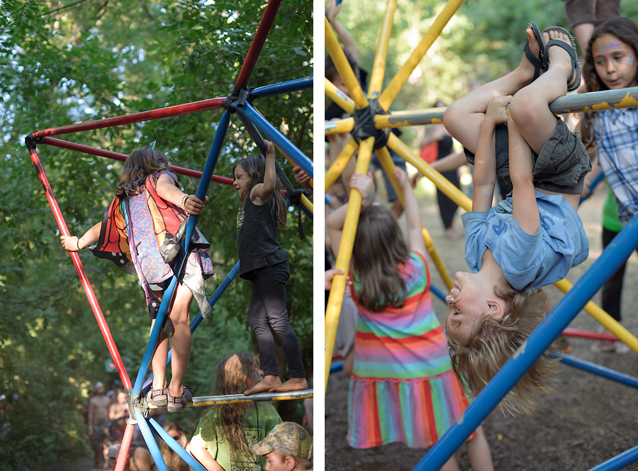 oregon country fair 2017 with kids jungle gym climbing free play childhood unplugged