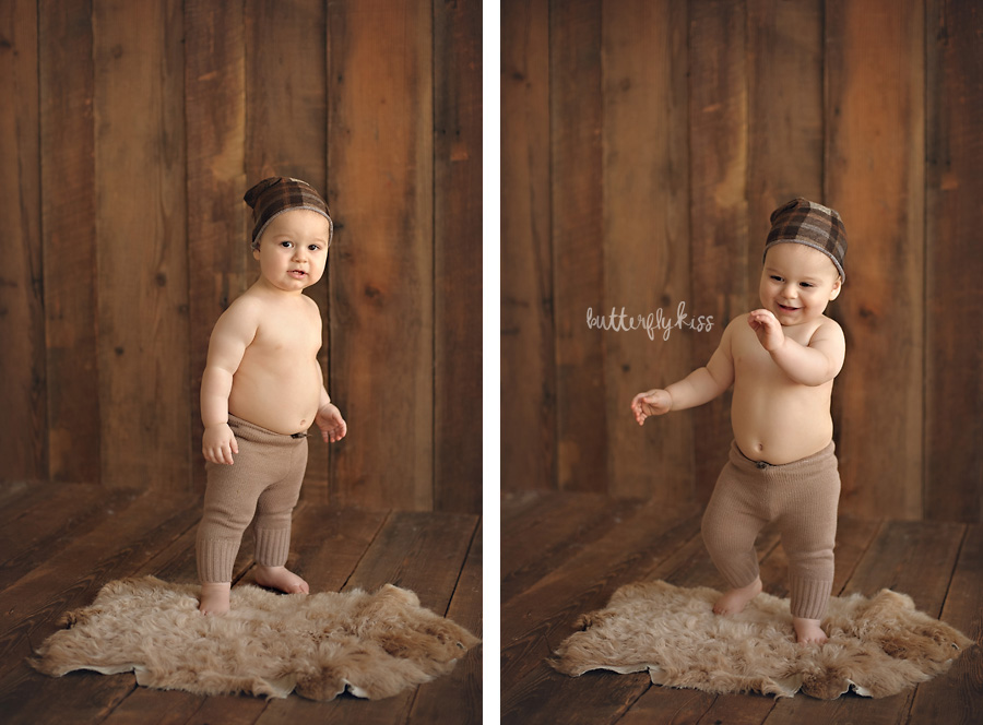tacoma baby photographer classic simple first birthday pictures walking standing milestone
