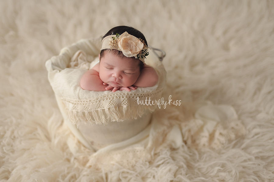 Tacoma newborn photographer summer baby girl Butterfly Kiss Photography