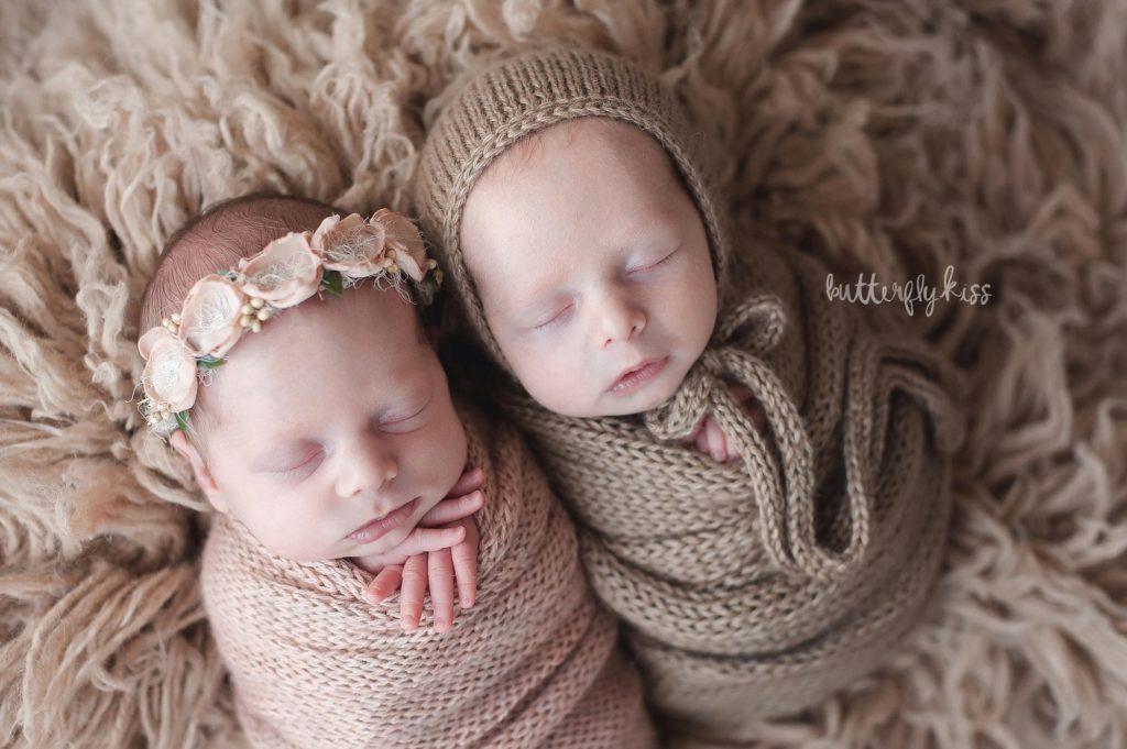 twin photographer near olympia newborn baby boy girl professional photography studio