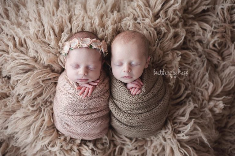 twin photographer near olympia wa newborn baby twins boy girl professional photography studio